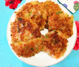 早餐打卡丨香煎海鲜饼,全家人都爱吃~