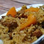 减脂时的美味:南瓜排骨糙米饭