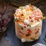 金秋色彩.奶油霜裱花蛋糕#暖色秋季#
