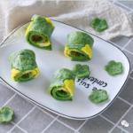 菠菜蛋黃卷餅