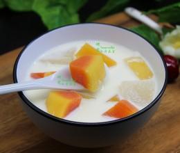 木瓜牛奶炖雪梨
