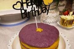 彩色发糕蛋糕