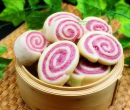 营养早餐,紫薯馒头卷