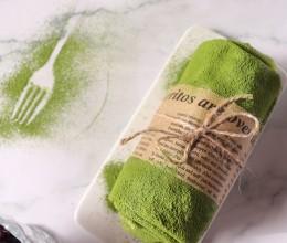抹茶蜜豆毛巾卷