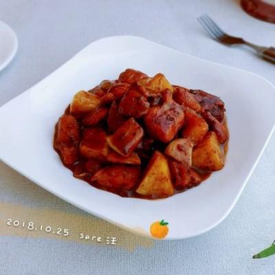 腐乳蚝香苹果鸡