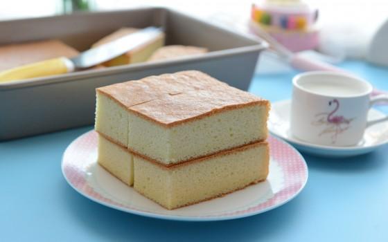 松软的海绵蛋糕