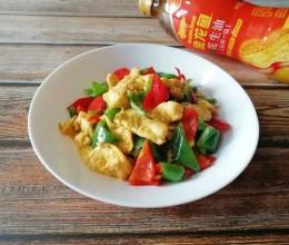 青红椒炒鸡蛋#金龙鱼舌尖美味·油你掌勺#