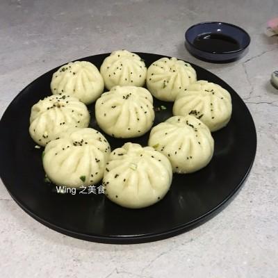 冬菇素菜生煎包
