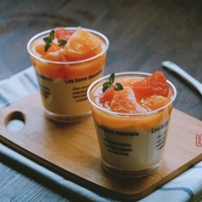 柑橘酸奶果冻慕斯