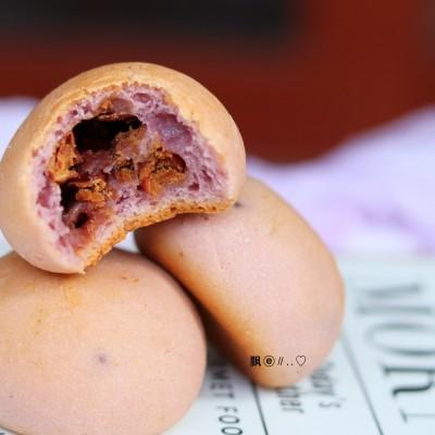 紫薯蜜豆麻薯包