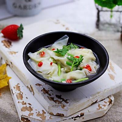 韭菜海米餛飩