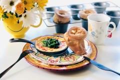 蓬蓬包Pop-Overs的可爱早餐