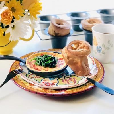 蓬蓬包Pop-Overs的可愛早餐