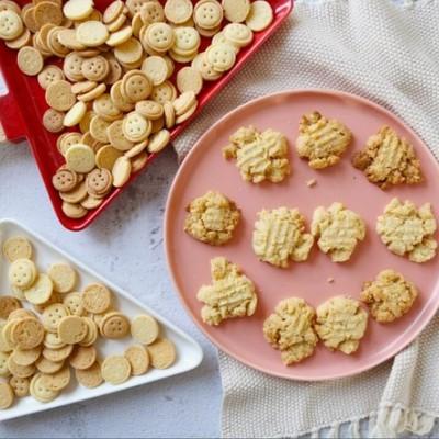 香酥脆的小米花生酱饼干超详细做法!