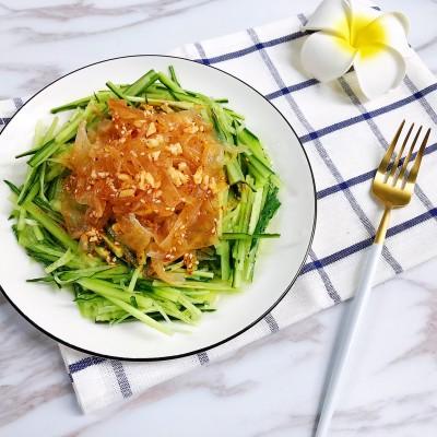 #特色菜#黄瓜拌海蜇