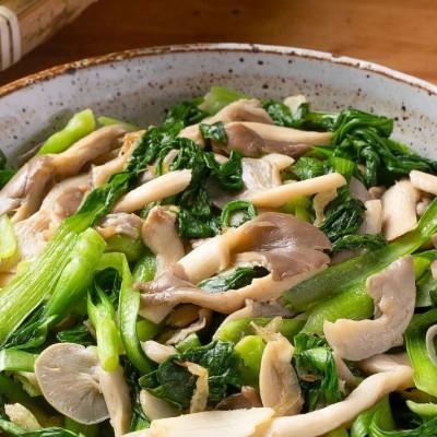 【干炸蘑菇】【鸡毛菜炒平菇】想吃肉又怕长肉,这个可以有!
