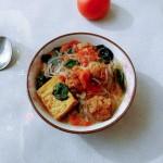 油盐素菜红汤粉