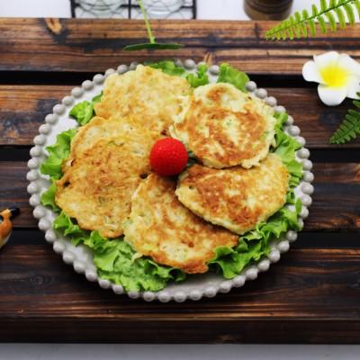 萝卜丝虾皮鸡蛋饼