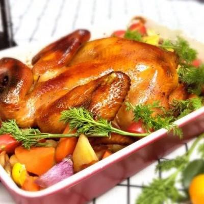 感恩节,烤鸡给你吃:什蔬黑椒烤鸡