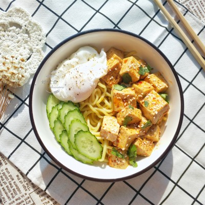 麻婆豆腐拌面