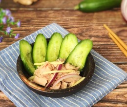 低脂瘦身 金枪鱼拌小黄瓜片#非常规创意吃鱼法#