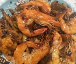 黄豆酱炒虾