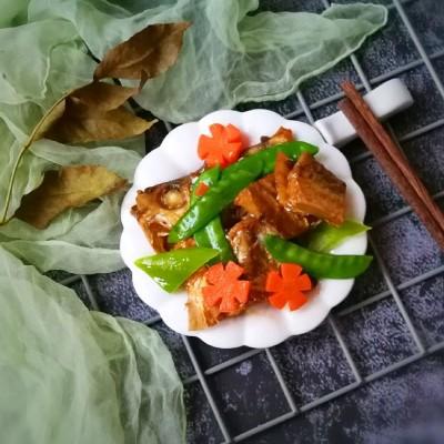 荷兰豆黄鱼干#非常规创意吃鱼法#