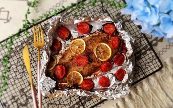 柠檬香烤龙利鱼#非常规创意吃鱼法#