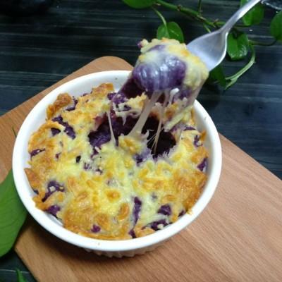 香甜美味,芝士焗紫薯