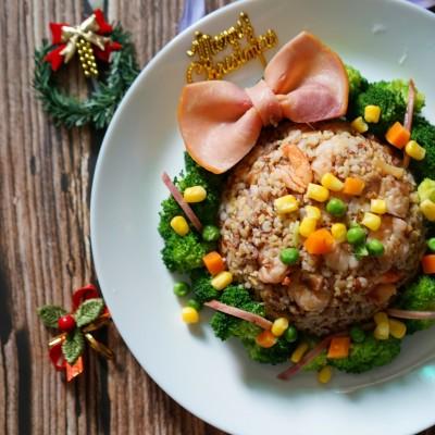 圣诞花环杂粮饭