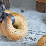 低脂低糖海盐芝士贝果全麦面包