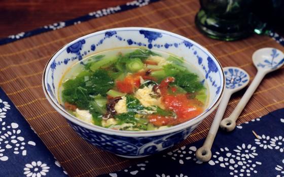 番茄蔬菜鸡蛋汤