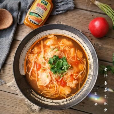 金针菇番茄龙利鱼#太太乐鲜鸡汁共享好食光#