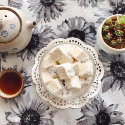 椰汁蜜豆雪花糕