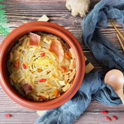 火腿瑶柱炖大白菜#百菜不如白菜#