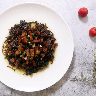 家常菜之入口不膩的五花肉燜梅干菜