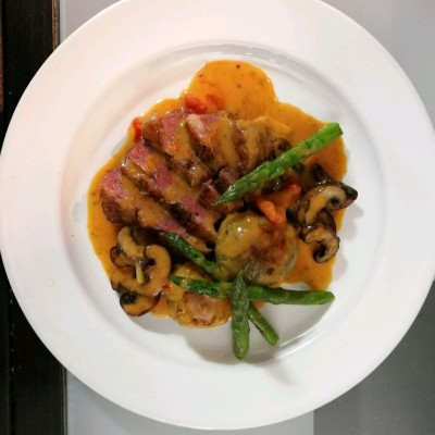 红咖喱椰浆鸭胸配小土豆