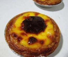 最大斑点的葡式蛋挞