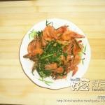 韭菜烧基围虾