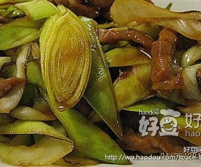 自制酱汁炒大葱肉丝