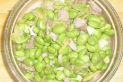肉炖青黄豆