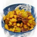 腊肠青笋炒黄豆