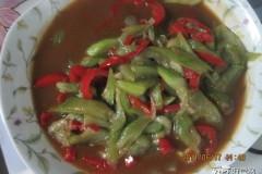 红辣椒炒丝瓜