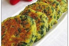 玉米芹菜叶烙饼