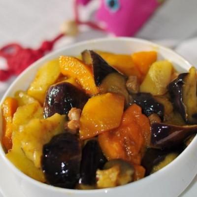 南瓜土豆炖茄子