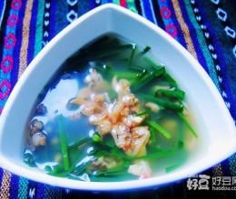 韭菜煮蛤蜊肉