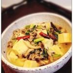 冻豆腐炖蟹味菇