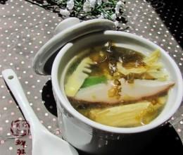 鲜笋菌菇汤