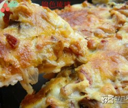 烤鸭蘑菇披萨