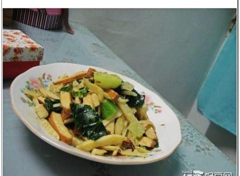 冬笋豆干菜